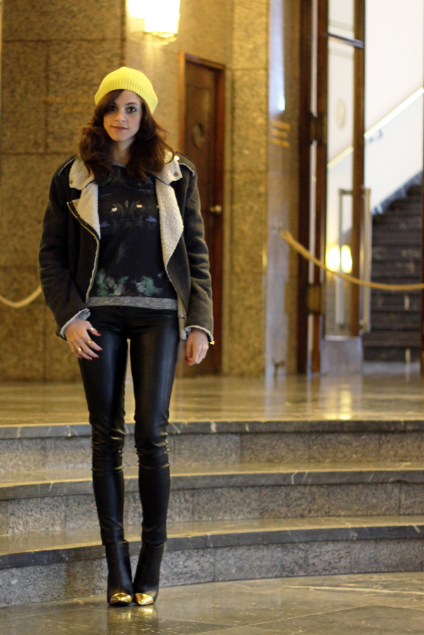 Club Monaco Beanie Amp Bershka Leather Pants And Panther