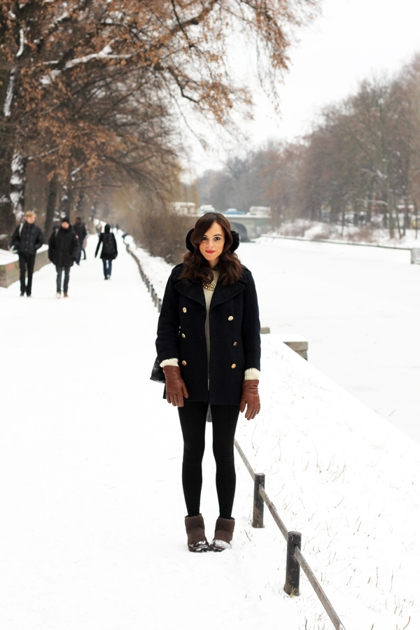 winter outfit low Ugg boots