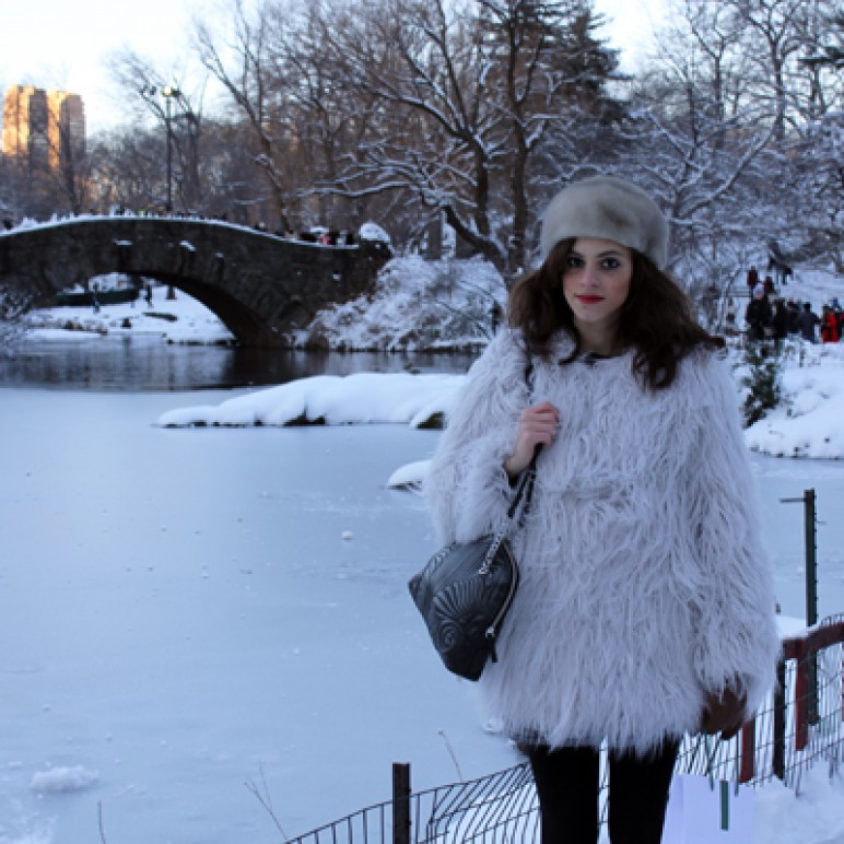 New York Fashion Week Day 3 – Outfit + Diary including Central Park under the Snow and the Lacoste show