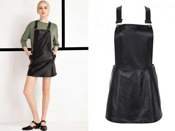 A Crush on the Front Row Shop Leather Dungaree Dress - Les Berlinettes