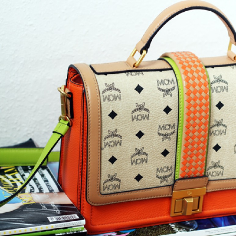 My little Veronika Visetos bag by MCM