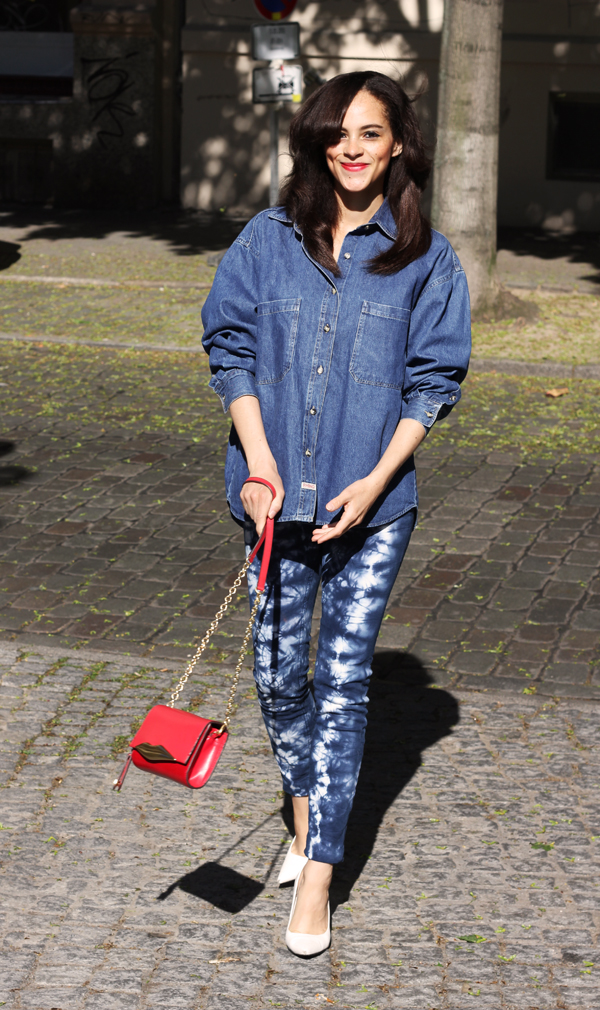 Tie Dye Jeans By Next And Vintage Denim Shirt Les