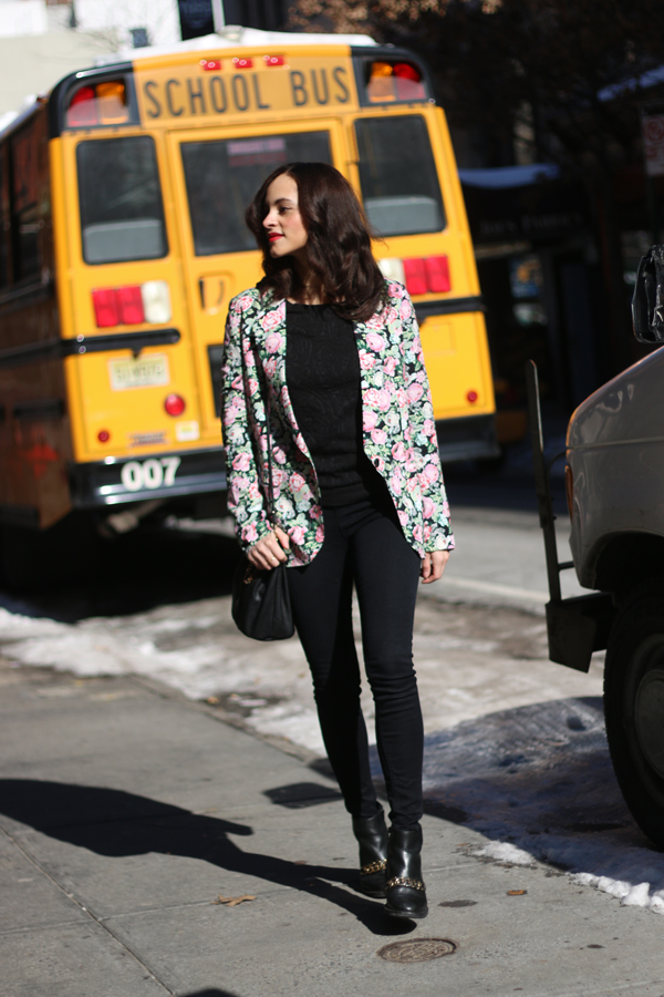 amandine fashion blogger new york fashion week blazer flower print