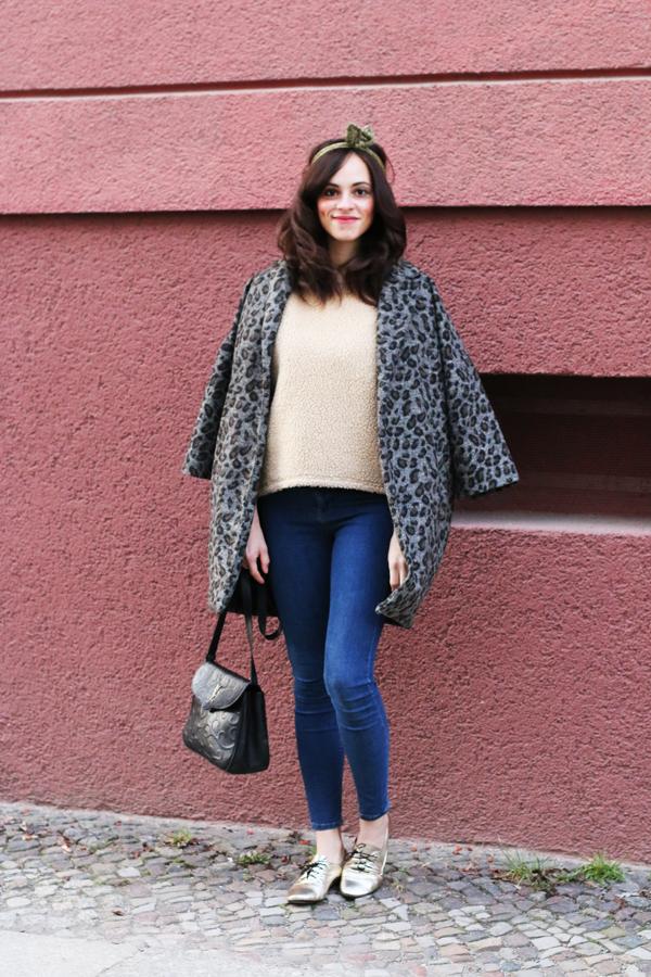 primark leopard coat designby me handmade gold shoes slippers