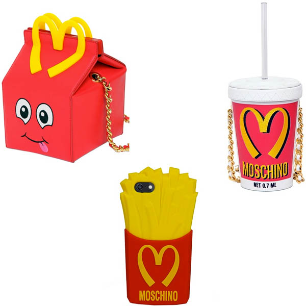 moschino pre order happy meal milchshake bag iphone case fries