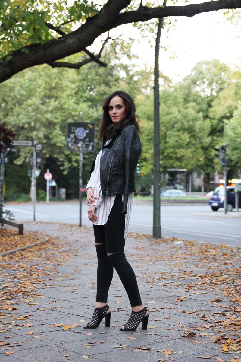 amandine fashion blogger berlin germany vila leather jacket