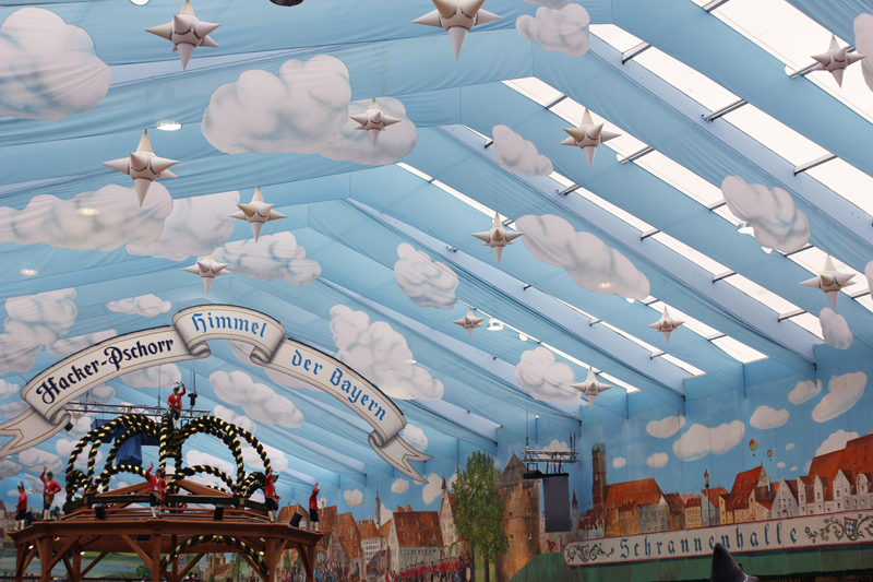 sky at Hacker Oktoberfest Wiesn Munich