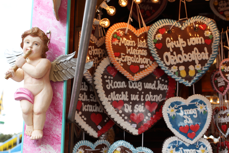 typical bavarian sweets at Munich Oktoberfest Wiesn