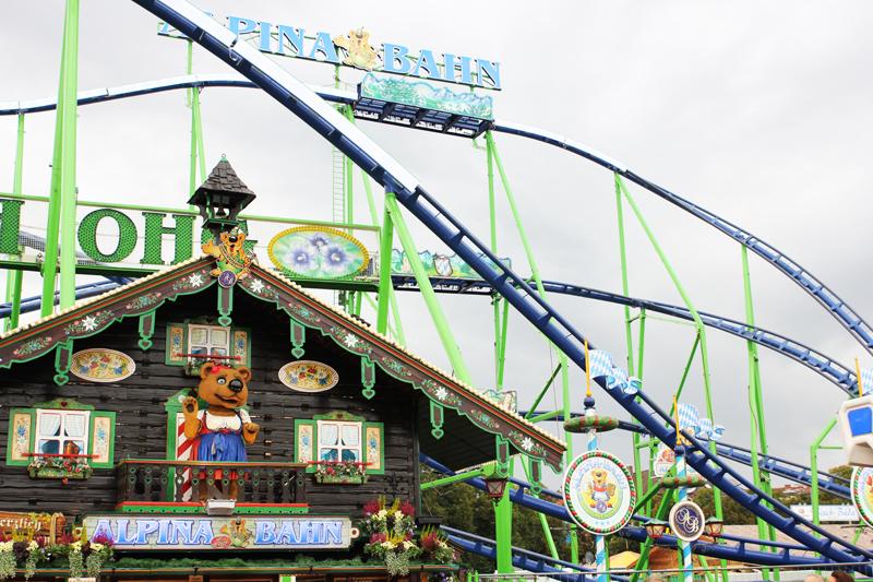 attractions at Oktoberfest Munich Wiesn fun
