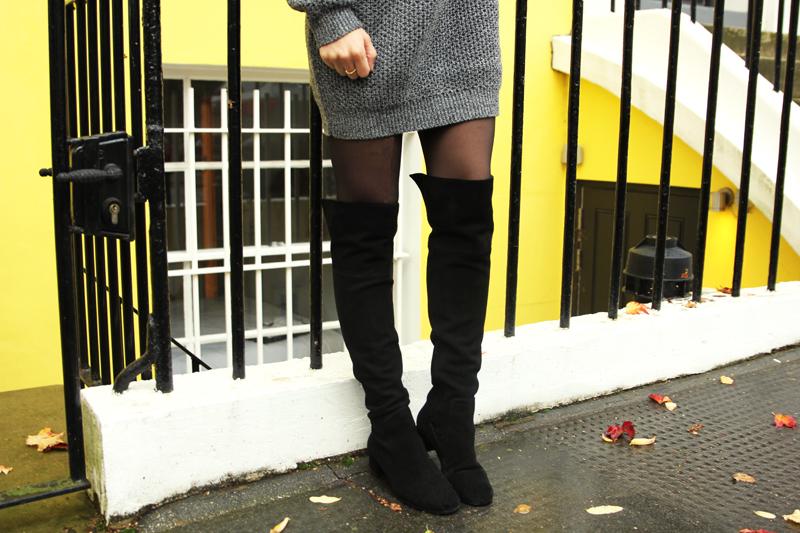 zara suede overknees boots