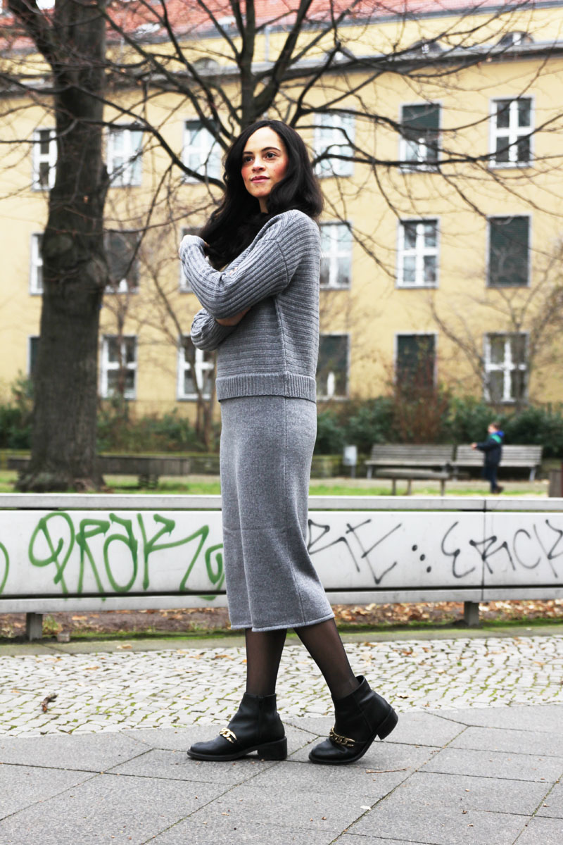 grey knit dress asos 1