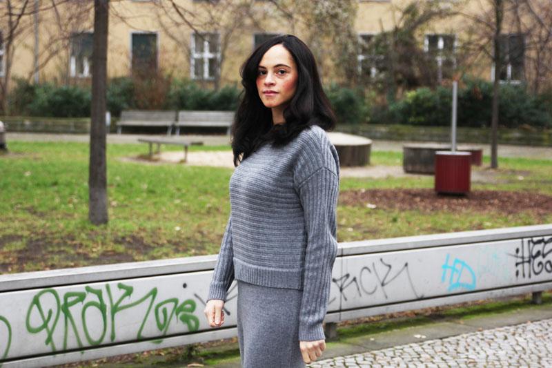 grey knit dress asos 2