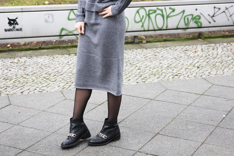 grey knit dress asos 3