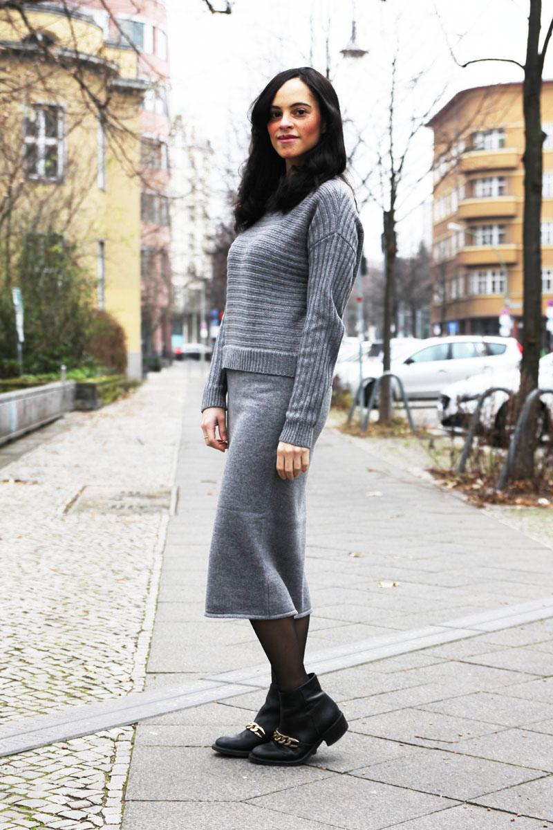 grey knit dress asos 4