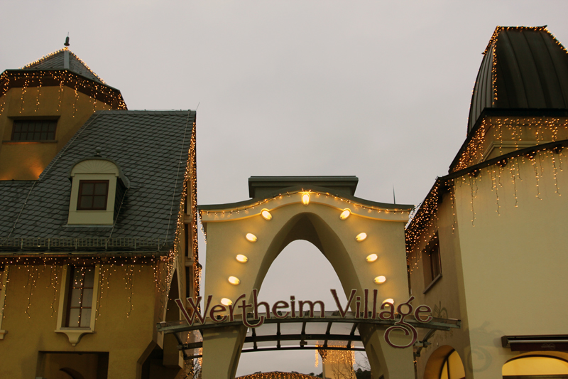 wertheim village christmas shopping lights