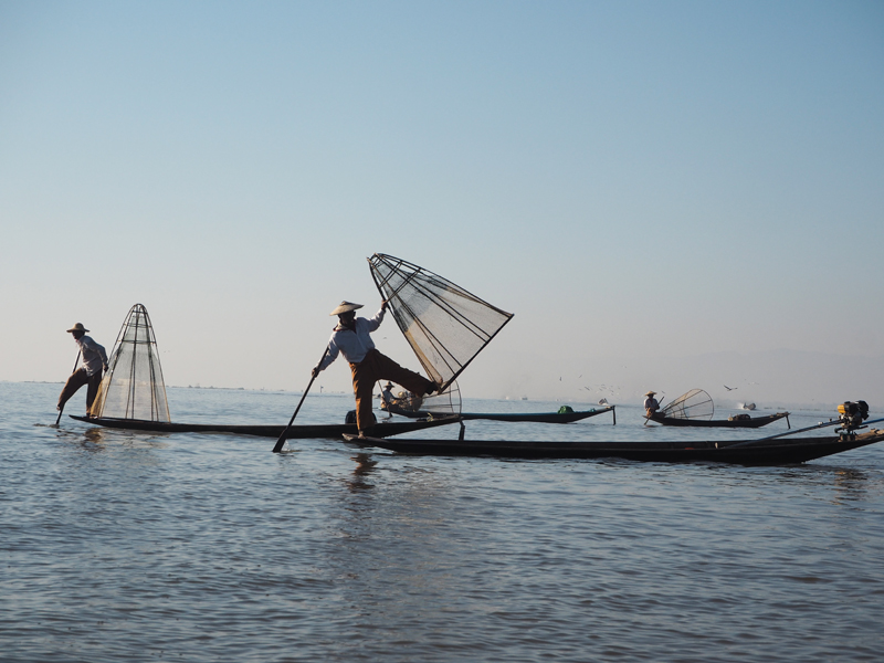 Fishermen Inle lake Myanmar itinerary
