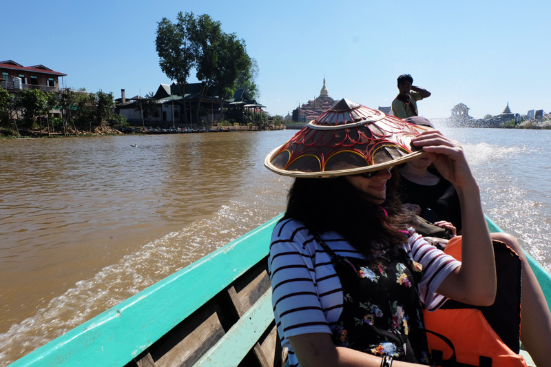 Inle lake Myanmar route boat tour