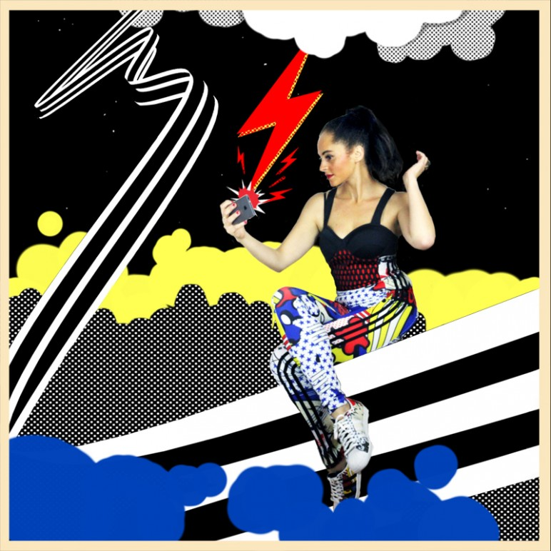 My comic strip : wearing Rita Ora Pop Art Collection for Adidas Originals