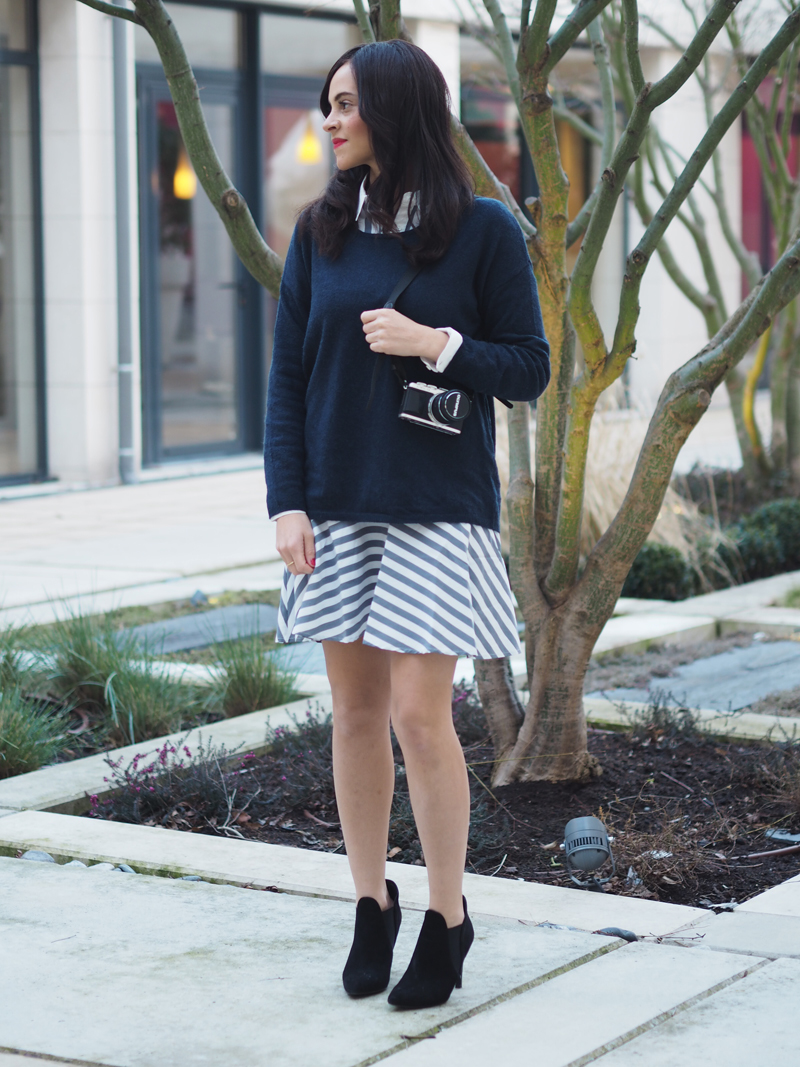 amandine fashion blogger berlin germany wearing ootd street style outfit striped dress yas olympus pen lp7