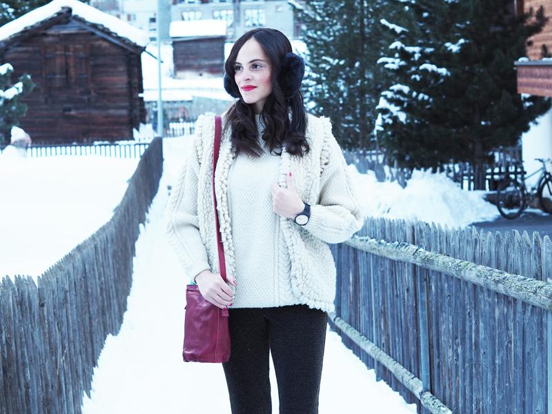 amandine fashion blogger switzerland zermatt winter outfit golden friend watch swatch