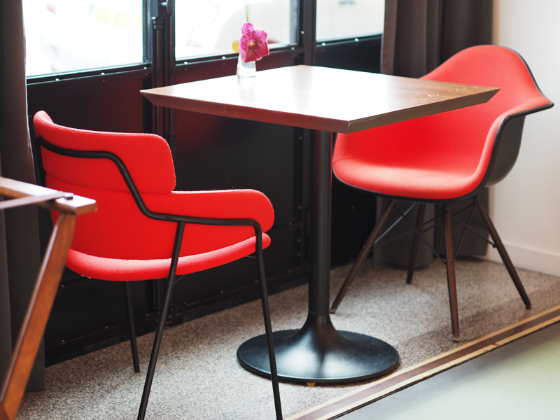 chairs and table at restaurant hotel molitor m gallery collection paris