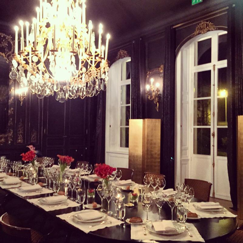dinner at hotel du marc veuve clicquot ambassador blogger event
