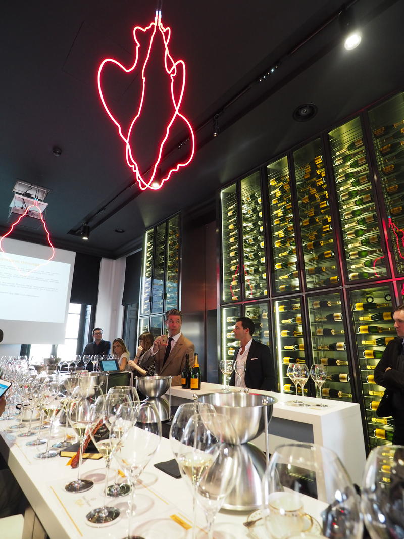 veuve clicquot champagne tasting in reims at hotel du marc