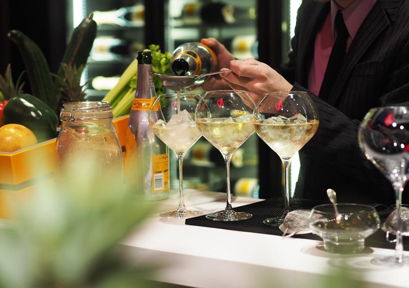 veuve clicquot rich cocktail at hotel du marc reims