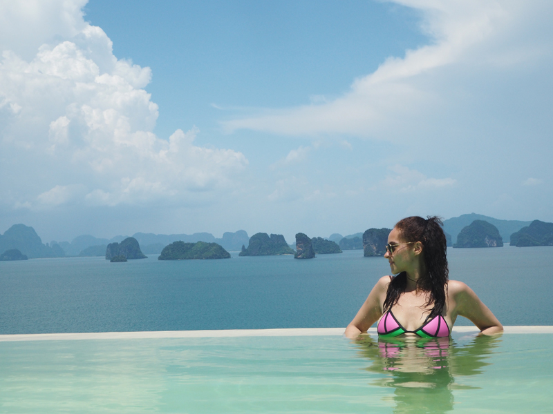 amandine travel blogger from berlin germany at six senses koh yao noi thailand infiny pool hilltop reserve