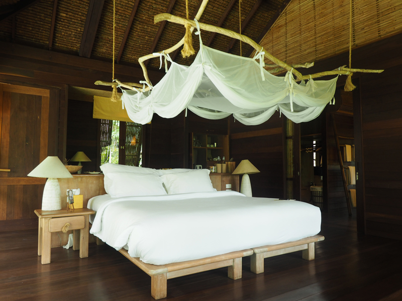 bedroom private pool villa hideaway at six senses koh yao noi luxury boutique hotel resort thailand