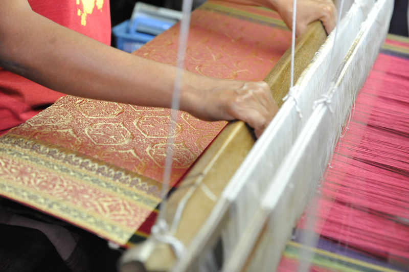 Thai Silk Golden brocade for the royal court