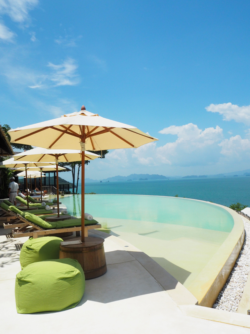six senses koh yao on thailand infinity pool hilltop reserve view phang nga bay