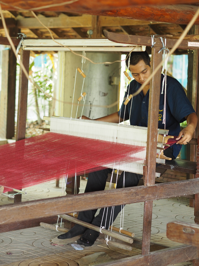 Thailand Academy 3 Silk woven on a traditional hand operated loom