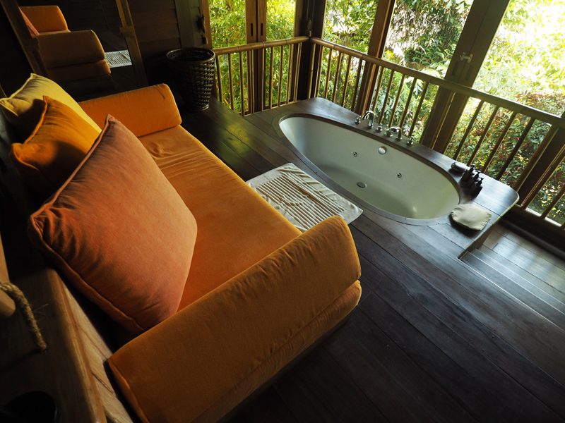 bathroom private pool villa hideaway at six senses koh yao noi luxury boutique hotel resort thailand