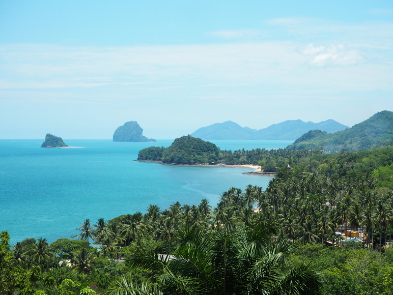 view from hilltop reserve at six senses koh yao noi thailand