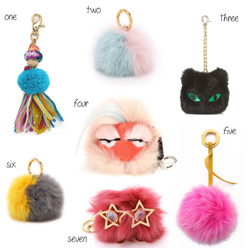 bb329faef6 ... sale alternatives to the fendi pom pom bag charms e0465 6c870