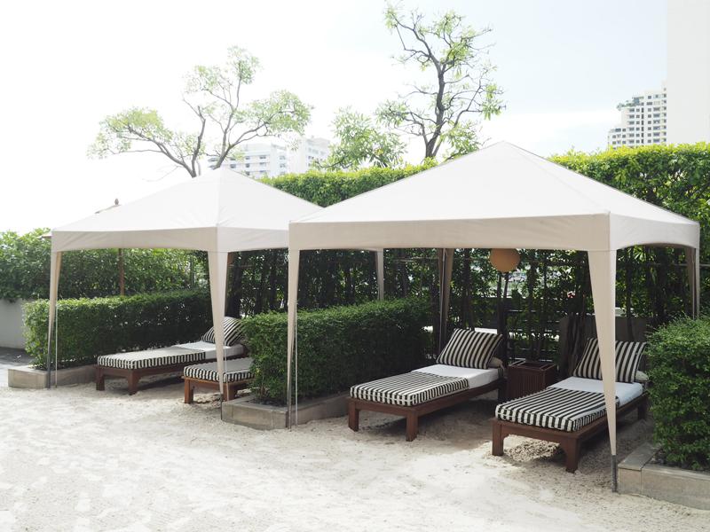 pool area Hilton Riverside Millennium Bangkok hotel