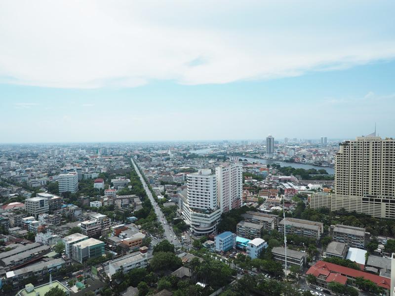 view skyline from Millennium Hilton Hotel Bangkok