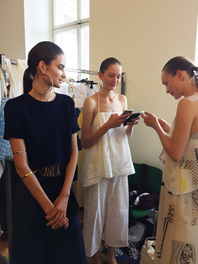 Backstage at Lala Berlin with Eimi