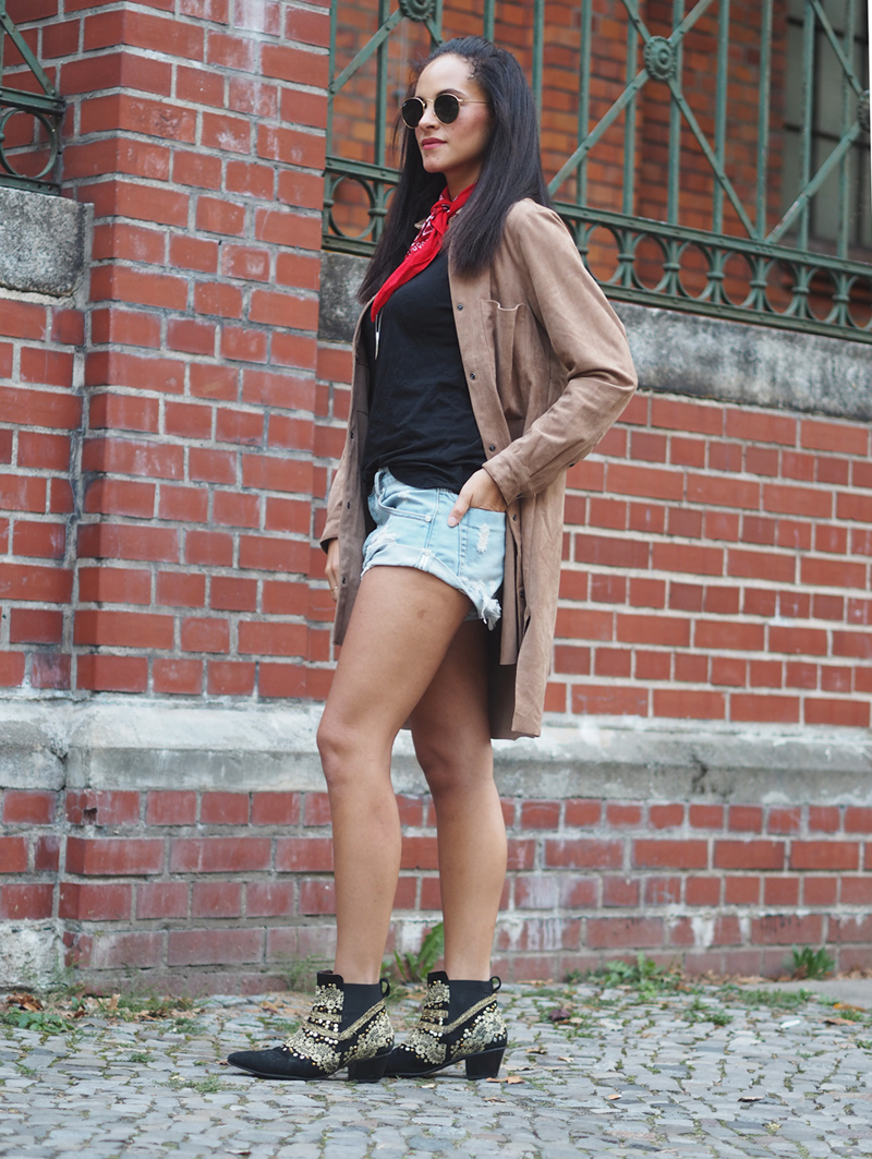 outfit suede shirt