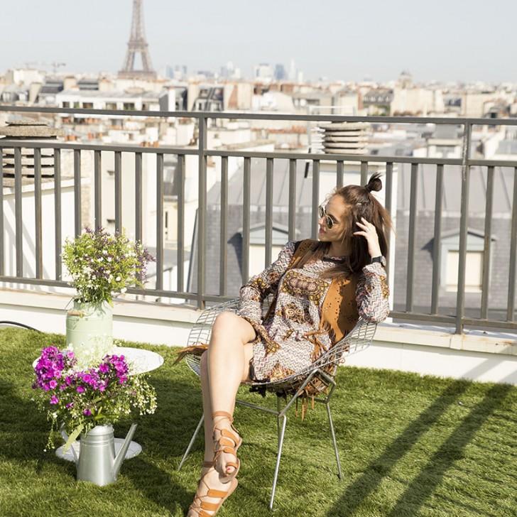 Urban rooftop glamping in Paris