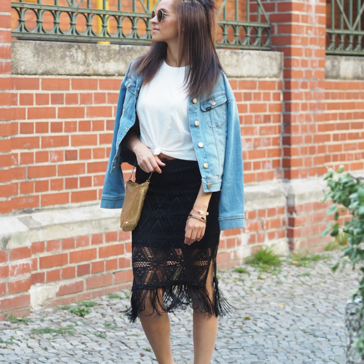 How to wear the fringe skirt for a everyday casual outfit