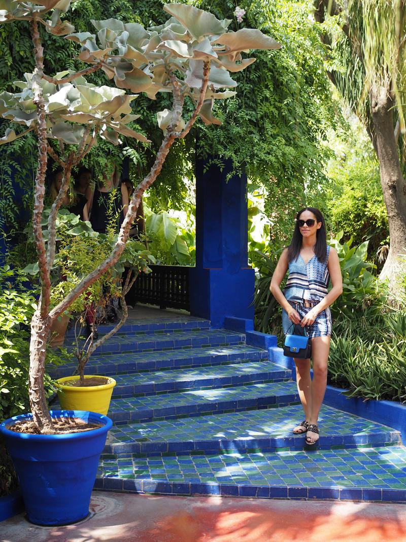 Amandine fashion travel blogger Marrakech Majorelle garden