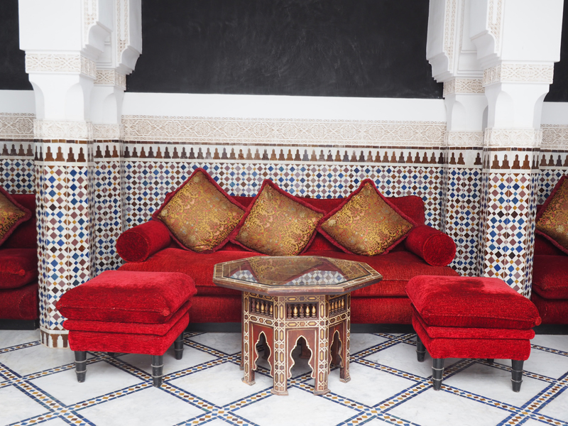 La Mamounia luxury hotel Marrakech Maroccan bar