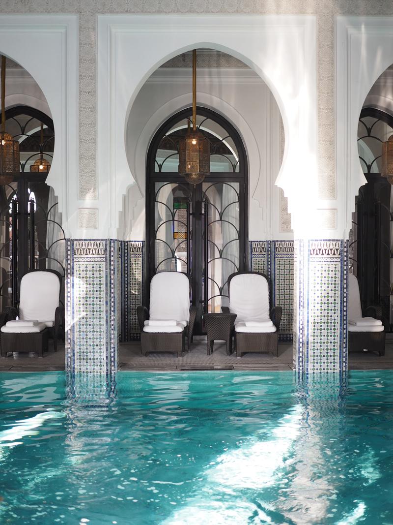 La Mamounia luxury hotel Marrakech indoor pool