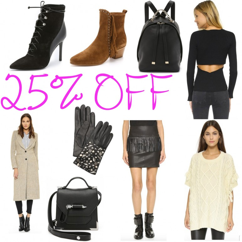 Shopbop friends and family sale – 25% OFF