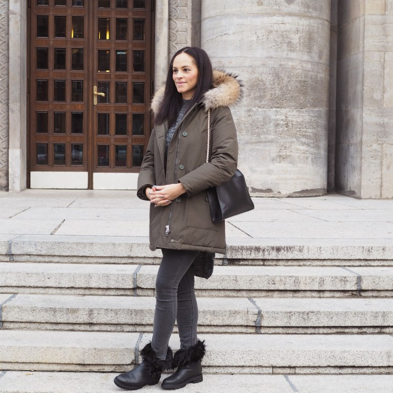 Outfit – Woolrich arctic parka & Vince cromby boots