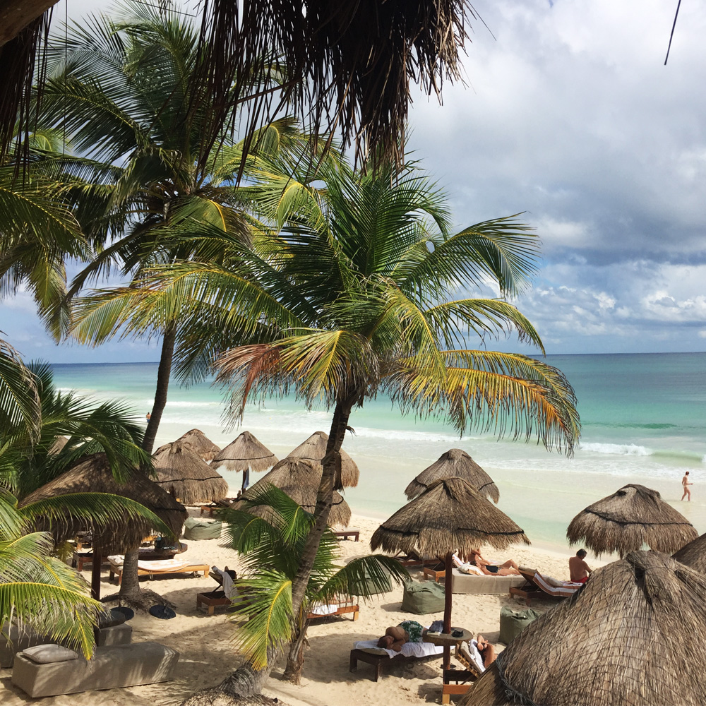 Tulum| Rosa del Viento beach hotel with no seaweed