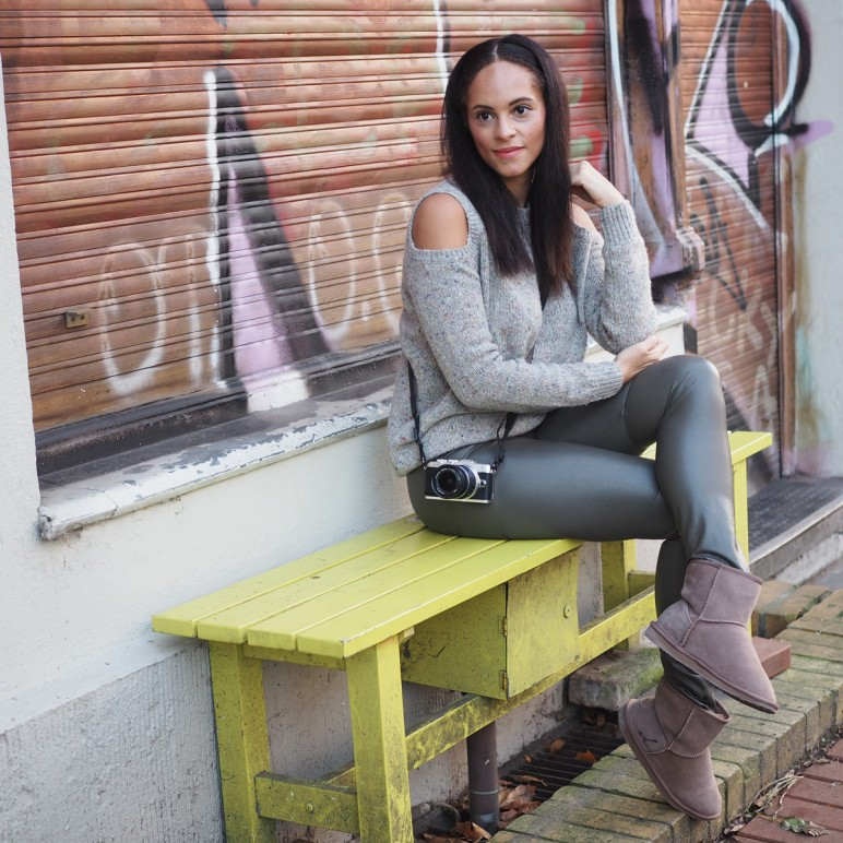 A comfy winter outfit wearing Emu boots
