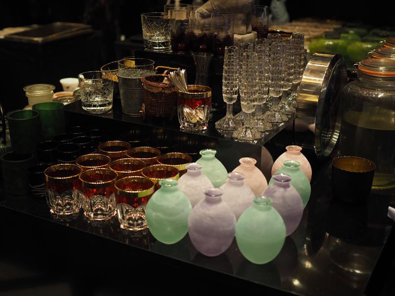 drinking glass at Fragances bar Berlin Ritz Carlton